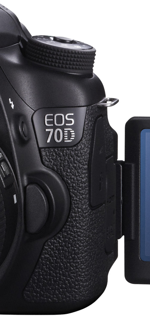 EOS 70D FSL VARI ANGLE MONITOR OPEN w EF-S 18-55mm IS STM_cut